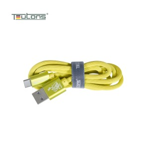 Teutons Zlin-fc124 (1.m) True Length Usb Type-c Fast Charging Cable - Yellow