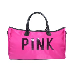 Pink 3011 Shoulder Travel And Duffle Large Sports Bag