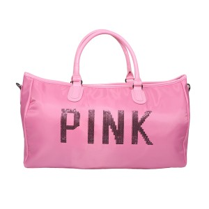 Pink Shoulder Travel And Duffle Large Sports Bag (pink)
