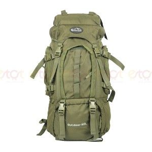 Over Earth Outdoor 60l Large Premium Quality Stylish And Professional Hiking Mounterian Sports Travel Backpack (olive)