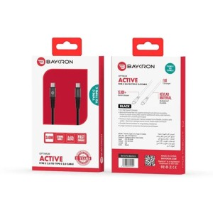 Baykron Cable Type C To Type C 3 M 3a - Black