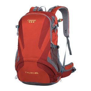 Creeper Yd-260 Tyloo 40l Large Water Resistant Premium Quality And Professional Hiking Mounterian Sports Travel Backpack (red)