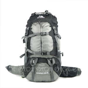 Diwang Adventure 40+5l Large Size Premium Quality Stylish Professional Hiking Mounterian Sports And Travel Backpack With Rain Cover (grey & Black)
