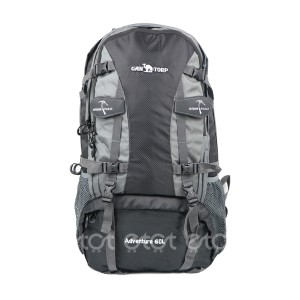 Can Torp 60 Ltr Outdoor Sports Mountaineering Waterproof Travel Backpack With Rain Cover (black)